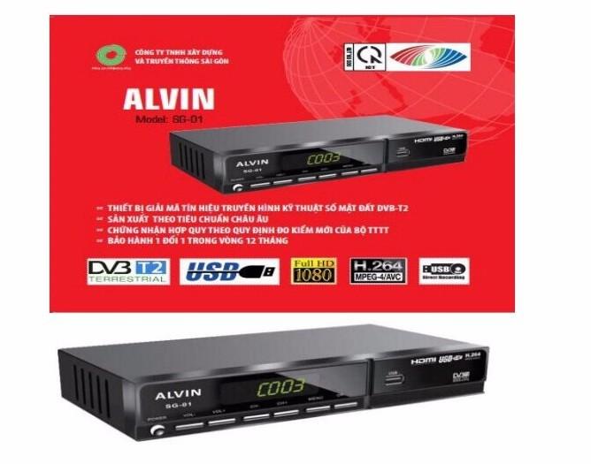Đầu Thu Truyền Hình Số Mặt Đất DVB T2 Alvin SG-01 Chính Hãng Mới 1
