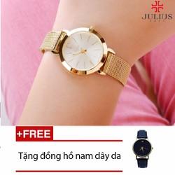 Đồng hồ Hàn Quốc Julius JU970 - tặng 01 đồng hồ nam dây da
