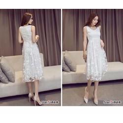 Đầm ren nữ, thiết kế ngọt ngào, sang trọng mẫu Hàn Quốc cao cấp
