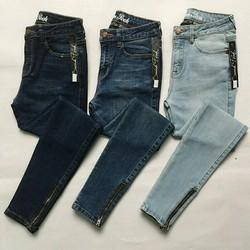 quần jean khóa kéo chân