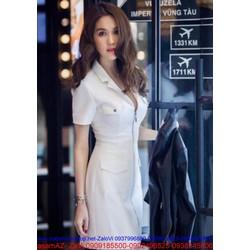 Đầm ôm thiết kế giả vest sành điệu với thiết kế khóa kéo DOV186