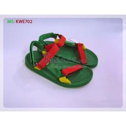 Giày nhựa Thái Lan Sandal nữ - KWE702 - Màu Xanh lá
