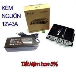 Âm li mini 12V lepy LP-838 và nguồn 12V3A