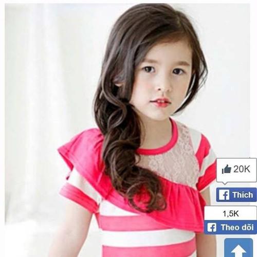 Đầm thun ôm phối ren dễ thương