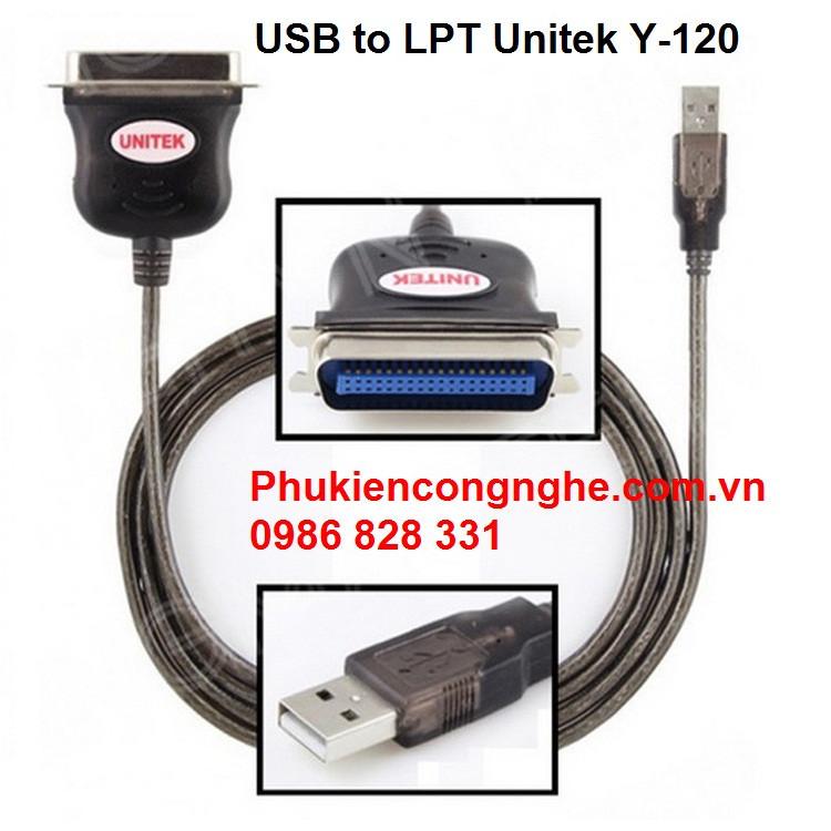 Cáp chuyển đổi USB sang LPT Unitek Y-120 2
