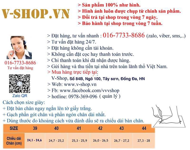 Giày nam thời trang V-SHOP G224 1