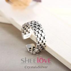 Nhẫn bạc sang trọng thời trang cá tính phong cách Hàn Quốc SPR-JZ104