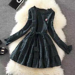 Mimihouse - Đầm baby doll caro hàng nhập!