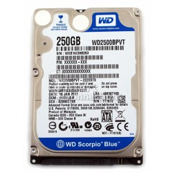 HDD laptop western 250G 5400rpm 2.5in