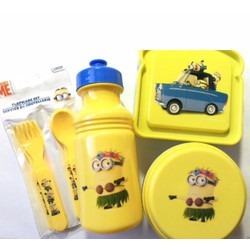 Bộ 7 dụng cụ ăn uống cho bé hình Minion - Mỹ