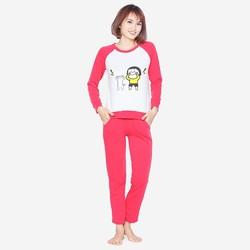 Bộ quần áo ngủ mặc nhà thể thao thu đông nữ