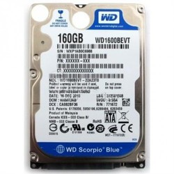 HDD laptop wesstern 160G 5400rpm 2.5in