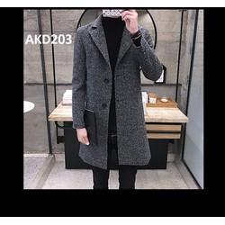 Áo khoác dạ nam thời trang