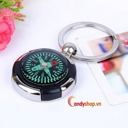 Móc khóa la bàn - combo 2 móc khóa đẹp candyshop88.vn
