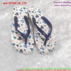Dép kẹp nữ hình trái tim xanh nữ tính đáng yêu DNDC18