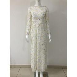 Đầm dạ hội hoa cỏ mùa xuân
