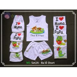 Combo 5 bộ quần áo hình thú ngộ nghĩnh cho bé