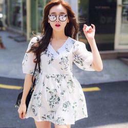 Đầm babydoll voan hoa