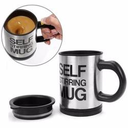Cốc tự khuấy pha cà phê không cần thìa tiện dụng đen