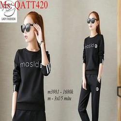 sét thể thao nữ áo dài tay masld phối quần dài thời trang QATT420