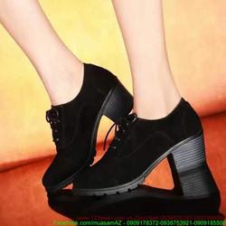 Giày da nữ thu đông đế cao tự tin nổi bật GUBB56