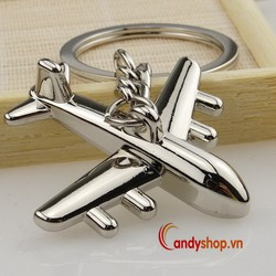 Móc khóa inox máy bay - bộ 2 móc khóa độc đáo candyshop88.vn
