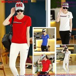 Bộ quần áo thể thao nữ số 7 năng động sành điệu QATLL400