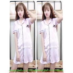 Đầm ngủ nữ phi bóng đơn giản xinh đẹp DNL244
