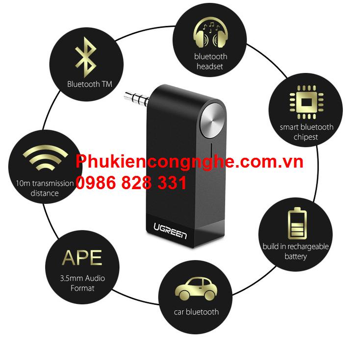 Bluetooth Music có hỗ trợ Mic cho Điện thoại chính hãng Ugreen 30348 3