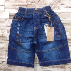 qt24 [25-35kg]Quần sọt jeans mềm túi in số 6