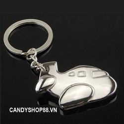 Móc khóa inox máy bay V1 - bộ 2 móc khóa độc đáo candyshop88.vn