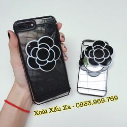 [Xoài Xấu Xa Shop] CASE ỐP LƯNG BÔNG HỒNG GƯƠNG SOI IPHONE 7PLUS