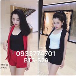 Set áo vest quần sort không kèm áo thun BTS-S26