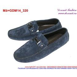 Giày mọi da nam phối tag chữ H sành điệu lịch lãm GDM14