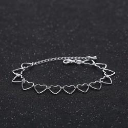 Lắc tay trái tim bạc - TS-0097