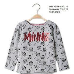 Áo thun tay dài in hình chuột Minnie