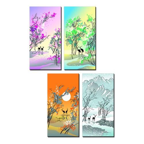 Tranh treo tường đẹp bốn mùa - 4113656 , 4554809 , 15_4554809 , 829000 , Tranh-treo-tuong-dep-bon-mua-15_4554809 , sendo.vn , Tranh treo tường đẹp bốn mùa