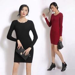 Váy len ôm Body - hàng Quảng Châu