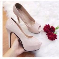 giày cao gót hở mũi cao 12cm