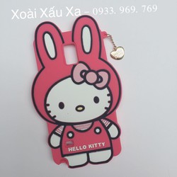 [Xoài Xấu Xa Shop] ỐP LƯNG SILICONE HELLO KITTY SS GALAXY NOTE 4