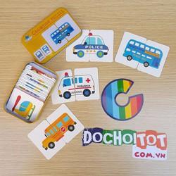 Hộp ghép hình flashcard theo chủ đề giao thông