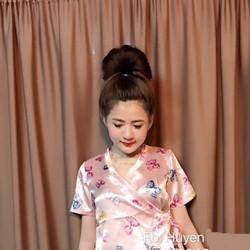 Set Bộ Ngủ Kimono Nơ xinh iu