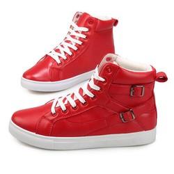Giày cổ cao nam 2 màu đen đỏ