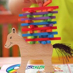 Bộ đồ chơi que gỗ sắc màu bạn Ngựa