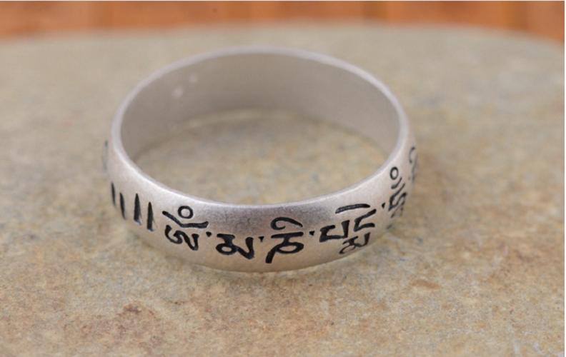 Nhẫn Khắc Om Mani Padme Hum Tây Tạng -NH166 5