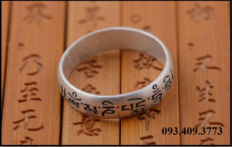 Nhẫn Khắc Om Mani Padme Hum Tây Tạng -NH166 6