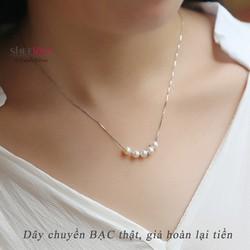 Dây chuyền bạc 925 ngọc trai thời trang xinh xắn Hàn Quốc SN-D478