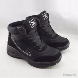 Giày thể thao nữ cổ cao Sportmax SWG52220B - Màu đen