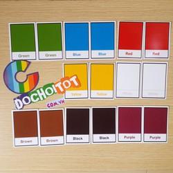 Thẻ nhận biết màu sắc cơ bản