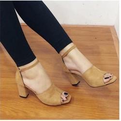 giày gót vuông 1540